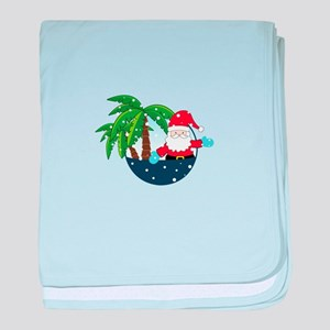 Christmas In Paradise baby blanket