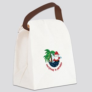 Chirstmas in paradise Canvas Lunch Bag