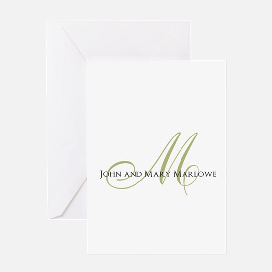 Names and Monogrammed Initial Greeting Cards