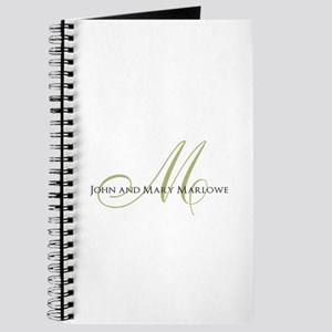 Names and Monogrammed Initial Journal