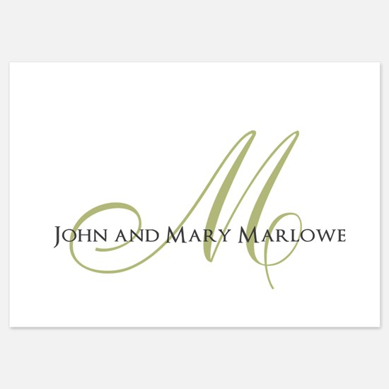 Names and Monogrammed Initial Invitations