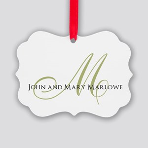 Names and Monogrammed Initial Ornament