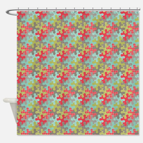 Puzzled! Shower Curtain