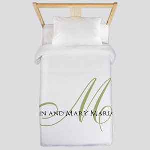 Names and Monogrammed Initial Twin Duvet