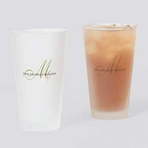 Names and Monogrammed Initial Drinking Glass