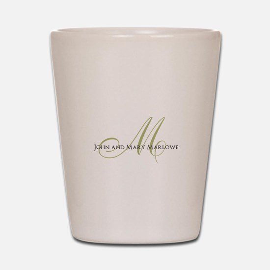 Names and Monogrammed Initial Shot Glass