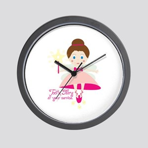Tooth Fairy At Your Service Wall Clock