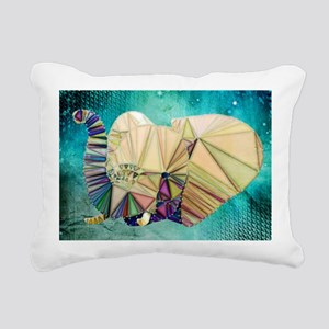 Abstract Elephant Rectangular Canvas Pillow