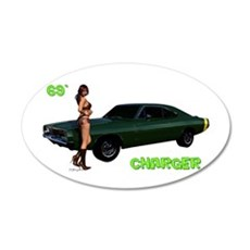 69 Charger Pinup Wall Decal