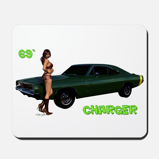 69 Charger Pinup Mousepad