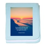 Christopher Columbus Quote baby blanket