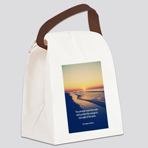 Christopher Columbus Quote Canvas Lunch Bag