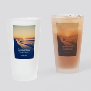 Christopher Columbus Quote Drinking Glass