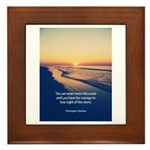 Christopher Columbus Quote Framed Tile