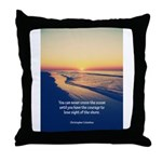 Christopher Columbus Quote Throw Pillow