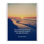 Christopher Columbus Quote Throw Blanket