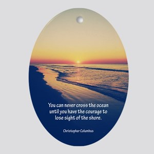 Christopher Columbus Quote Ornament (Oval)