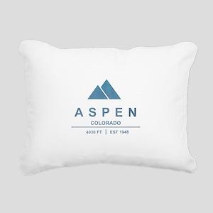Aspen Ski Resort Colorado Rectangular Canvas Pillo