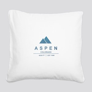 Aspen Ski Resort Colorado Square Canvas Pillow