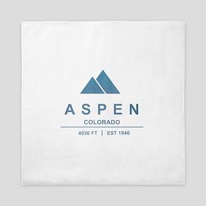 Aspen Ski Resort Colorado Queen Duvet
