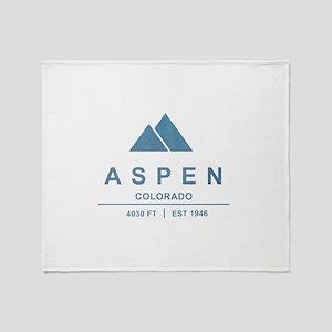 Aspen Ski Resort Colorado Throw Blanket