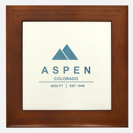 Aspen Ski Resort Colorado Framed Tile
