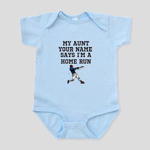 My Auntie Says Im A Home Run (Custom) Body Suit
