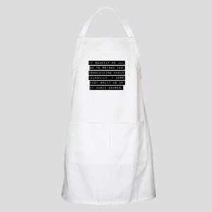 If Someday We All Go To Prison Apron
