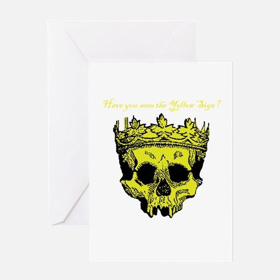 Yellow Sign Greeting Cards