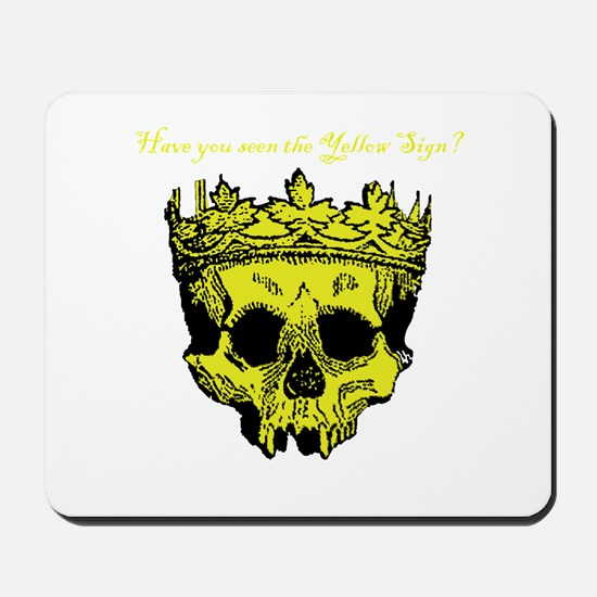 Yellow Sign Mousepad