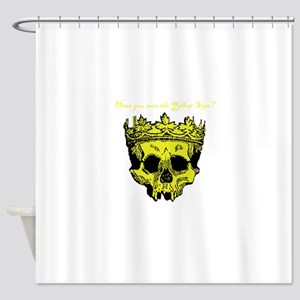 Yellow Sign Shower Curtain