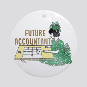 Future Accountant Ornament (Round)