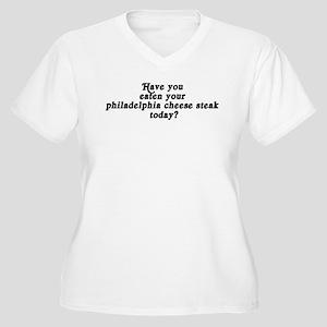 philadelphia cheese steak tod Women's Plus Size V-