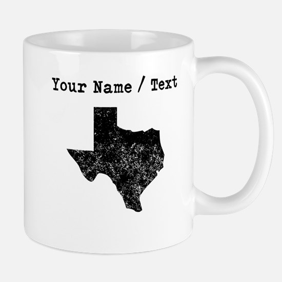 Custom Distressed Texas Silhouette Mugs