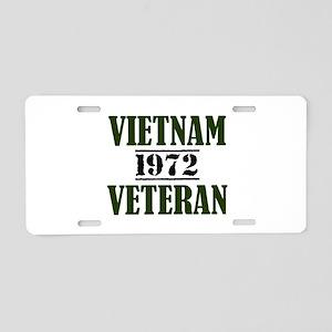 VIETNAM VETERAN 72 Aluminum License Plate