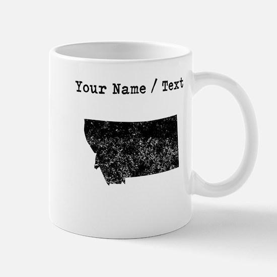 Custom Distressed Montana Silhouette Mugs