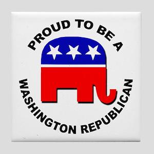 Proud Washington Republican Tile Coaster