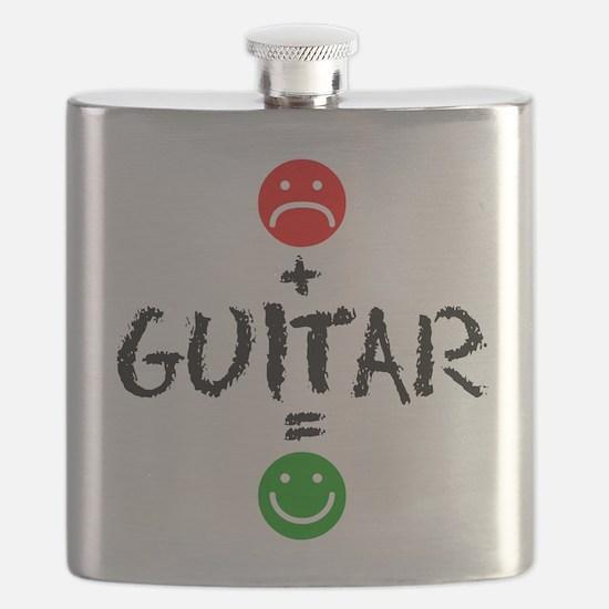 Plus Guitar Equals Happy Drinkware Flask