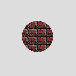 Retro Anniversary Pattern Mini Button
