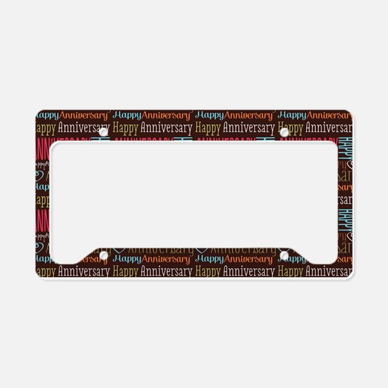 Retro Anniversary Pattern License Plate Holder