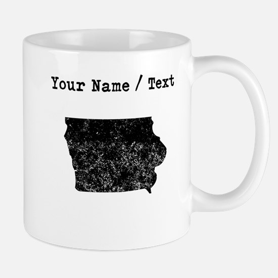 Custom Distressed Iowa Silhouette Mugs
