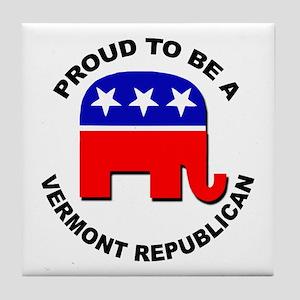 Proud Vermont Republican Tile Coaster