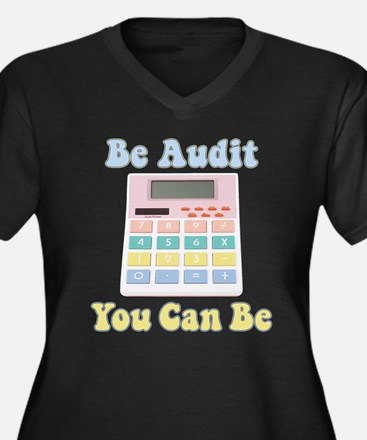 Be Audit You Can Be Women's Plus Size V-Neck Dark