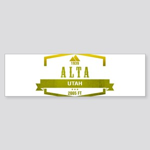 Alta Ski Resort Utah Bumper Sticker