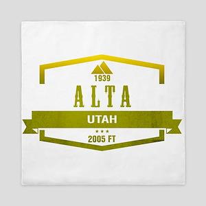 Alta Ski Resort Utah Queen Duvet