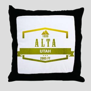 Alta Ski Resort Utah Throw Pillow