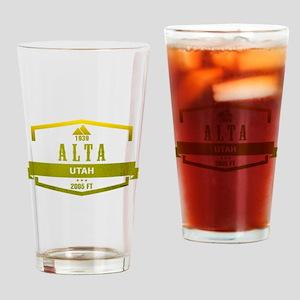 Alta Ski Resort Utah Drinking Glass