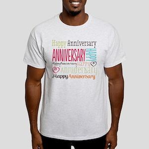 Modern Stylish Anniversary Light T-Shirt