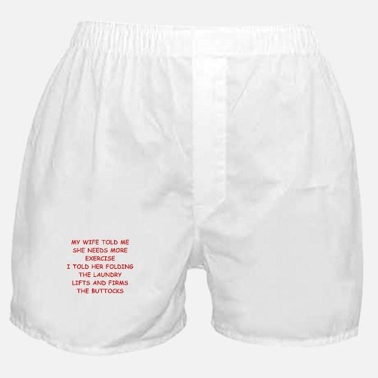 male chauvinis pig joke Boxer Shorts