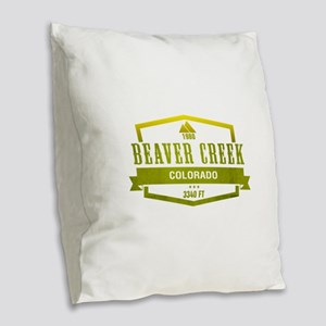 Beaver Creek Ski Resort Colorado Burlap Throw Pill